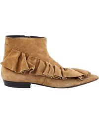 JW Anderson - Beige Suede Ankle Boot - Lyst