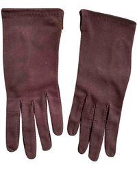 Hermès Leder Handschuhe - Braun