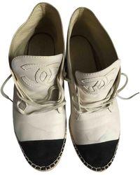 Chanel Alpargatas en cuero beige - Neutro