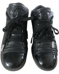 Chanel Leder Sneakers - Schwarz