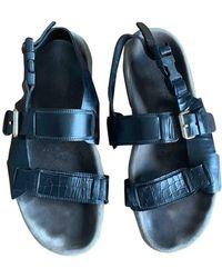 Lanvin Python Sandals - Black