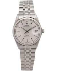 Rolex - Pre-owned Vintage Silver Steel Watches - Lyst