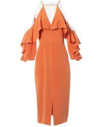 Cushnie et Ochs Seide Maxi Kleid - Orange