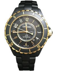 Chanel - Black J12 Automatic Watch\n - Lyst