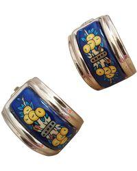 Hermès Boucles D'oreilles Email Earring - Blue