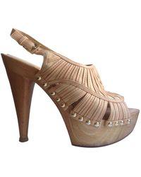 Dior Sandales en Cuir Camel - Multicolore