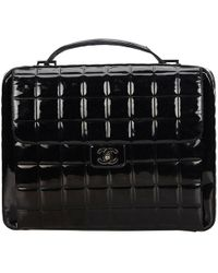 Chanel - Pre-owned Vintage Black Patent Leather Handbags - Lyst