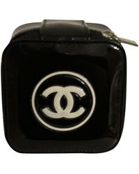 Chanel Black Patent Leather Clutch Bag