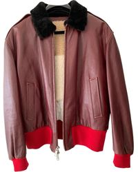 CALVIN KLEIN 205W39NYC Leather Biker Jacket - Multicolor