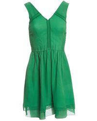 Marc By Marc Jacobs Green Silk Dress