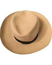 Chanel Cappelli in paglia beige - Neutro