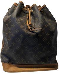 Louis Vuitton Bolsa de mano en lona marrón Noé