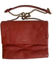 Lanvin Sugar Leather Crossbody Bag - Red