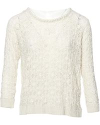 Isabel Marant - Ecru Cotton Knitwear - Lyst