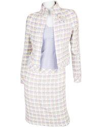 Chanel Chaqueta en algodón violeta - Multicolor