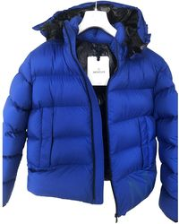 Moncler - Classic Blue Synthetic Jacket - Lyst