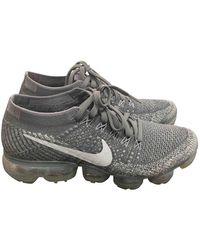 Nike Air VaporMax Leinen Sneakers - Grau