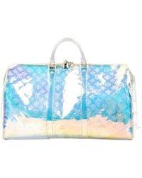 Louis Vuitton Borsa in plastica multicolore Keepall - Blu