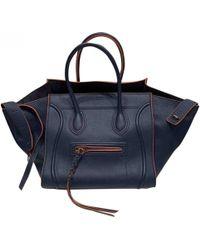 Celine Luggage Phantom Leather Handbag - Blue