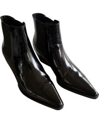 INTENTIONALLY ______ Leather Western Boots - Black