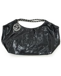 562eeed5fe2 Lyst - Chanel Nylon Shoulder Bag Coco Mark in Black