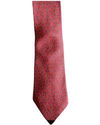 Hermès Seide Krawatten - Rot