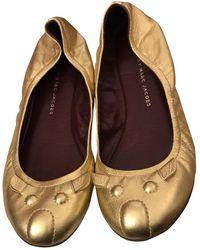 Marc Jacobs Leather Ballet Flats - Metallic