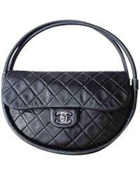 Chanel Hula Hoop Leder Handtaschen - Schwarz