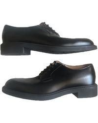 Louis Vuitton Leather Lace Ups - Black