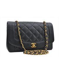 Chanel Diana Black Leather Handbag