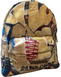 Chanel Graffiti Backpack - Blue