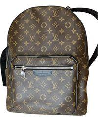 Louis Vuitton Josh Backpack Leinen Taschen - Braun