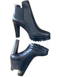 AllSaints Leather Biker Boots - Black