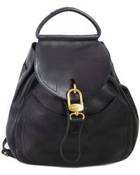 Delvaux Blue Leather Backpack