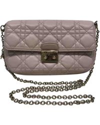 Dior - Pre-owned Miss Pink Leather Handbags - Lyst