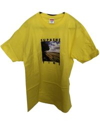 Supreme Yellow Cotton T-shirt - Green