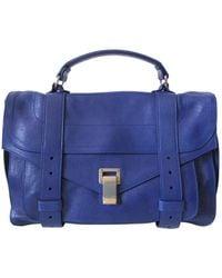 Proenza Schouler Bolsa de mano en cuero azul PS1
