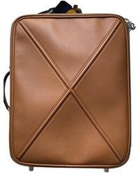 Loewe Camel Leather Bag - Natural