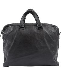 Bottega Veneta - Pre-owned Leather Satchel - Lyst