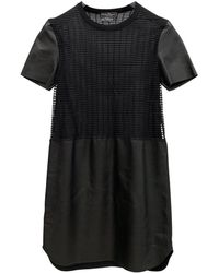 Ferragamo Leather Mid-length Dress - Black
