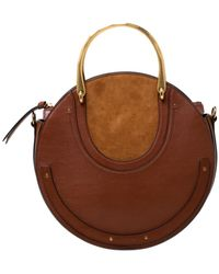 Chloé Pixie Leather Handbag - Brown