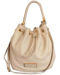 Marc By Marc Jacobs Too Hot To Handle Beige Leather Handbag - Multicolor