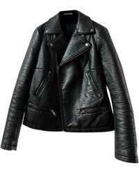 Zadig & Voltaire Leather Biker Jacket - Black