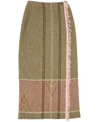 Etro - Wool Maxi Skirt - Lyst