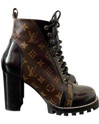 Louis Vuitton Star Trail Leinen Geschnürt boots - Braun
