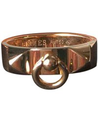 Hermès - Collier De Chien Pink Gold Ring - Lyst