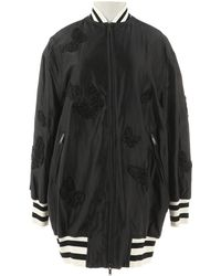 Valentino - Black Silk Jacket - Lyst