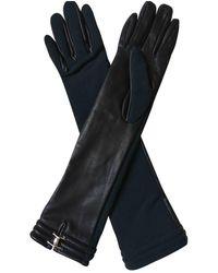 Marni Leather Long Gloves - Black