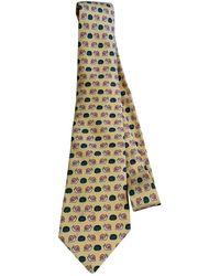 Hermès Corbatas en seda amarillo