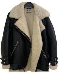 Acne Studios Velocite Leather Biker Jacket - Blue